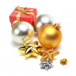Christmas balls isolated — Stock Photo #4204362