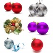 Set of christmas decoration — Stock Photo
