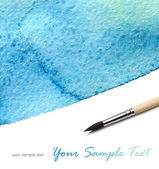 Brush and abstract watercolor paint — Stock Photo