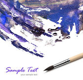Artists brush and watercolor painted — Stock Photo