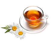 Xícara de chá com flores — Foto Stock
