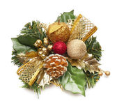 Christmas wreath isolated on white background — Stock Photo