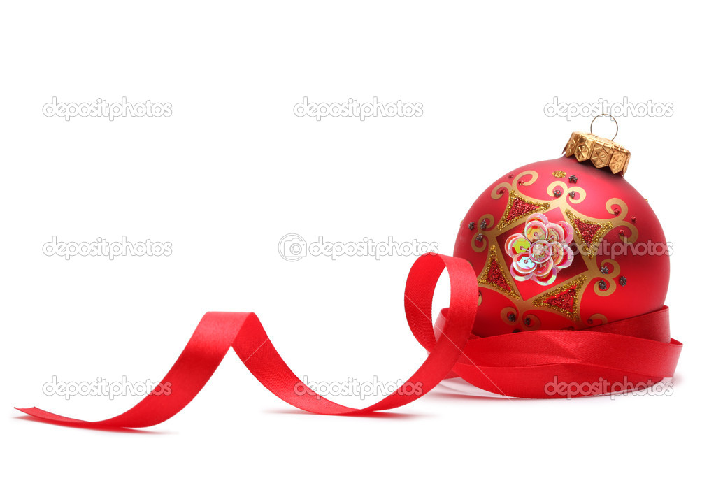 Christmas ball isolated — Stock Photo #4204351