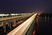 Bridge across the river — 图库照片