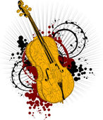 Bum violoncello — Stock Vector