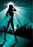 Striptease de noite — Vetorial Stock