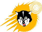 Wild wolf — Stock Vector