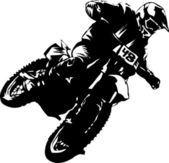 Motociclista super — Vetorial Stock