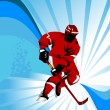 Stock Photo: Hockey red;