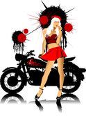 Rower i dziewczyna — Zdjęcie stockowe
