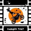 Stock Vector: Moto movie