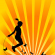 Girl with skipping rope - 