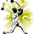 Baseball star — Stock Vector