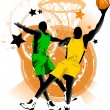 Stock Vector: Basketball club
