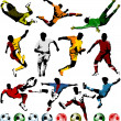 Soccer players collection - Stock Vector