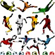 Soccer players collection — Image vectorielle
