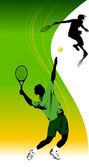 Tennis in green — Stock Vector