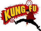 Kung fu para sempre — Vetor de Stock
