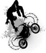 Moto attraction — Stock Vector