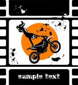 Moto movie — Stock Vector