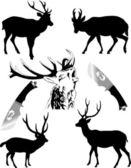 Deers new — Stock Vector
