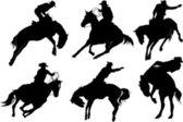 黑色牛仔 — 图库矢量图片