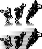 Moto freestyle — Stock Vector
