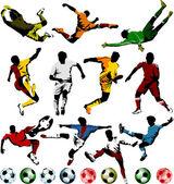 Coleção de jogadores de futebol — Vetorial Stock