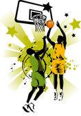 Basket-ball pour toujours — Vecteur