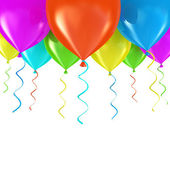 Party balloons background 3D — Stock Photo
