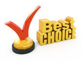 Best choice concept Check mark award — Stock Photo