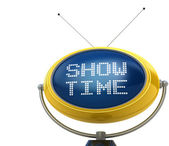 Show time concept isolated on white — Stock Photo