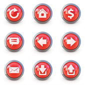 High detailed Set of web interface 3d buttons isolated on white — Stock Photo