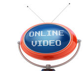 Online video concept isolated on white — Stock Photo