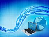 Internet globalization concept on background — Stock Photo