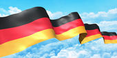 Germany flag ribbon high in the sky. 3d concept illustration — Stock Photo