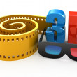 3d movie concept isolated on white — Foto Stock