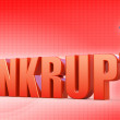 Bankrupt concept — Stock Photo