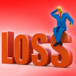 Stock Photo: Bankrupt loss concept