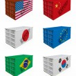 Stock Photo: Trade containers