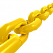 Golden chain close up — Stock Photo #5108500