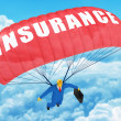 Stock Photo: Insurance parachute