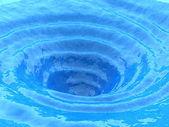 Ocean whirlpool, water vortex — Stock Photo