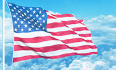 USA flag high in the sky — Stock Photo