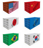 Trade containers — Stock Photo