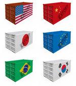 Comercio de contenedores — Foto de Stock