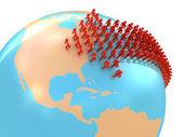 Migration to USA — Stock Photo
