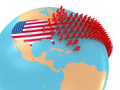 Migration to USA — Stock Photo