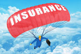 Insurance parachute — Stock Photo