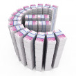 Stock Photo: Euro stack